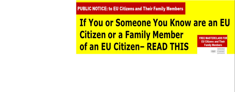 TO ALL EU CITIZENS