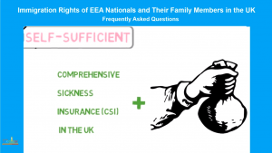 EU Citizens in the UK: SELF-SUFFICIENT PERSONS