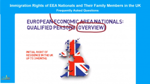 EU Citizens in the UK: QUALIFIED PERSONS (OVERVIEW)