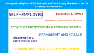 EU Citizens in the UK: SELF-EMPLOYED PERSON